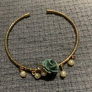 LC blue flower bangle
